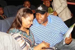 The DG SEC, Ms. Arunma Oteh and Nollywood actor, Ejike Asiegbu