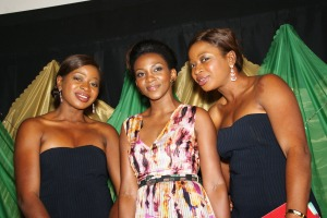 Genevieve Nnaji and the Anaeke twins, Chidinma and Chidiebere